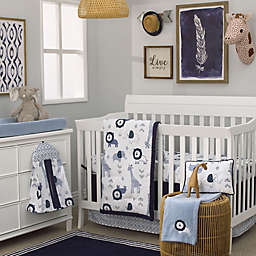 NoJo® Dreamer Mosaic Animals Crib Bedding Set in Navy