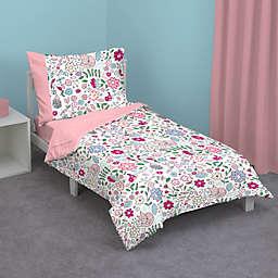 Zutano® Pink Fox Toddler Bedding Set
