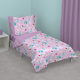 Zutano® Elephant Princess Toddler Bedding Set in Lavender