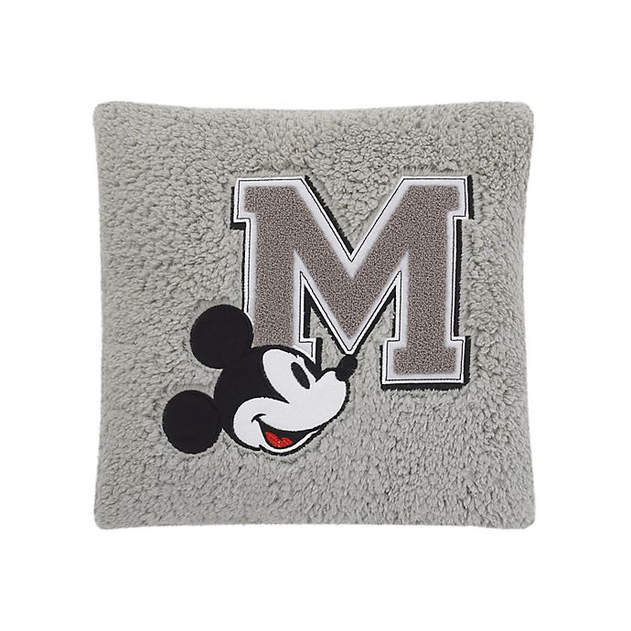 Alternate image 1 for Disney® Mickey Mouse Sherpa Decorative Pillow in Grey
