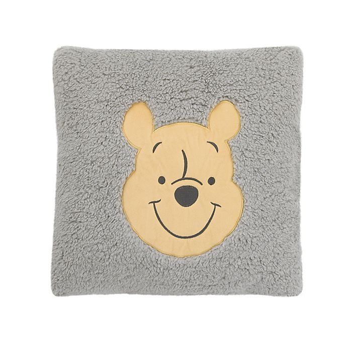 Alternate image 1 for Disney® Winnie the Pooh Sherpa Decorative Pillow in Grey