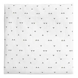 carter's® Triangles Sateen Fitted Crib Sheet in White/Grey