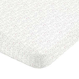 carter's® Critter Line Portrait Sateen Fitted Crib Sheet in Grey