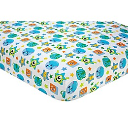 Disney® Monsters on the Go Fitted Crib Sheet in Blue