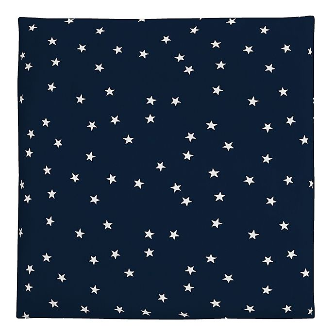 Alternate image 1 for carter's® Stars Fitted Crib Sheet in Navy