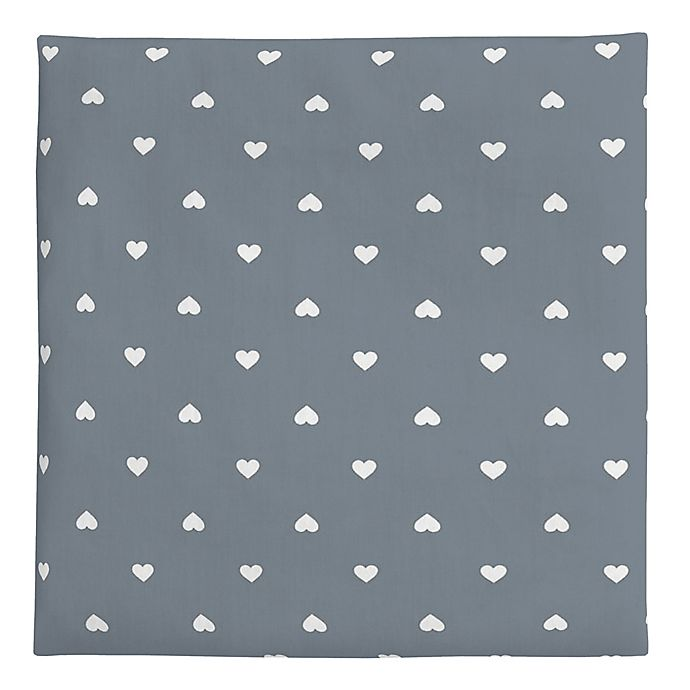 Alternate image 1 for carter's® Hearts Fitted Crib Sheet in Grey/White
