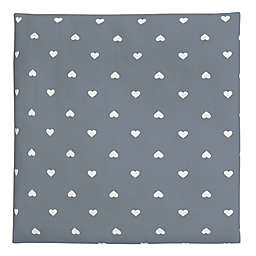 carter's® Hearts Fitted Crib Sheet in Grey/White