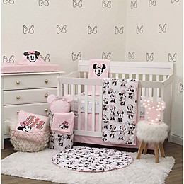 Disney® Exploration Minnie Mouse 6-Piece Crib Bedding Set in Pink