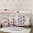 Part of the Disney® Exploration Minnie Mouse Crib Bedding Collection in Pink