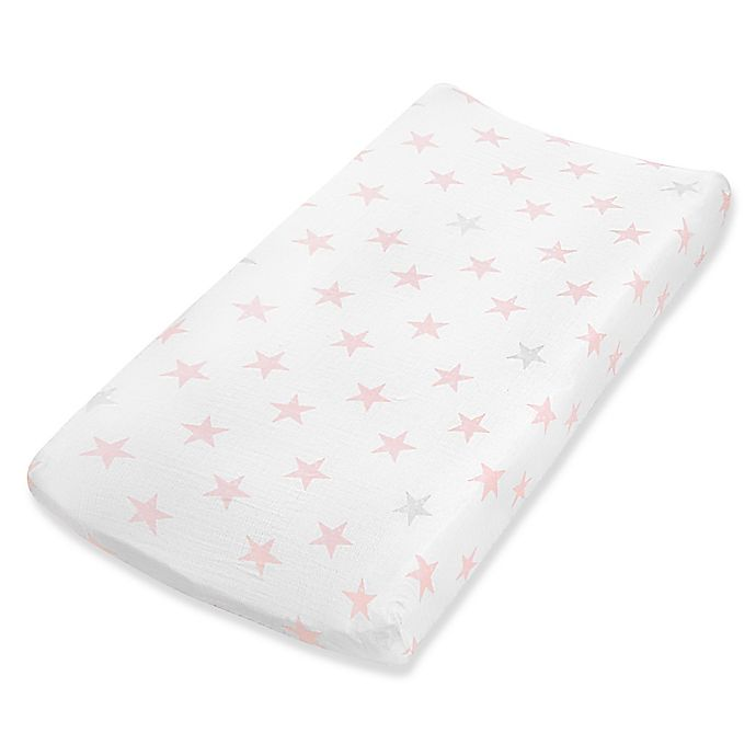 Alternate image 1 for aden® by aden + anais® Doll Changing Pad Cover in Pink