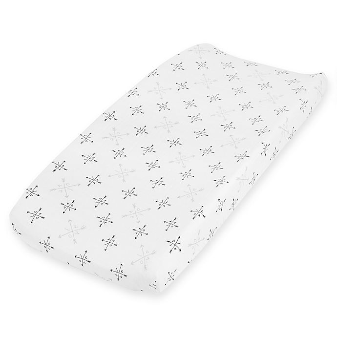 Alternate image 1 for aden + anais® Lovestruck Changing Pad Cover in Grey