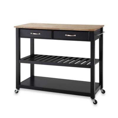 Home Styles Liberty Kitchen Cart With Wooden Top Bed Bath Beyond