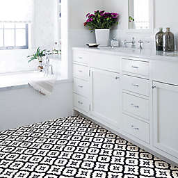Comet Peel and Stick Floor Tiles in Black (Set of 2)