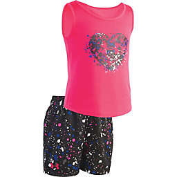 Under Armour® 2-Piece Heart Shirt and Short Set in Pink