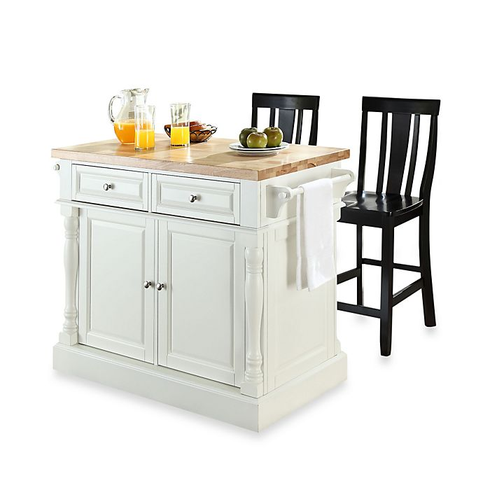 24 Kitchen Island: Crosley Butcher Block Top Kitchen Island With 24-Inch