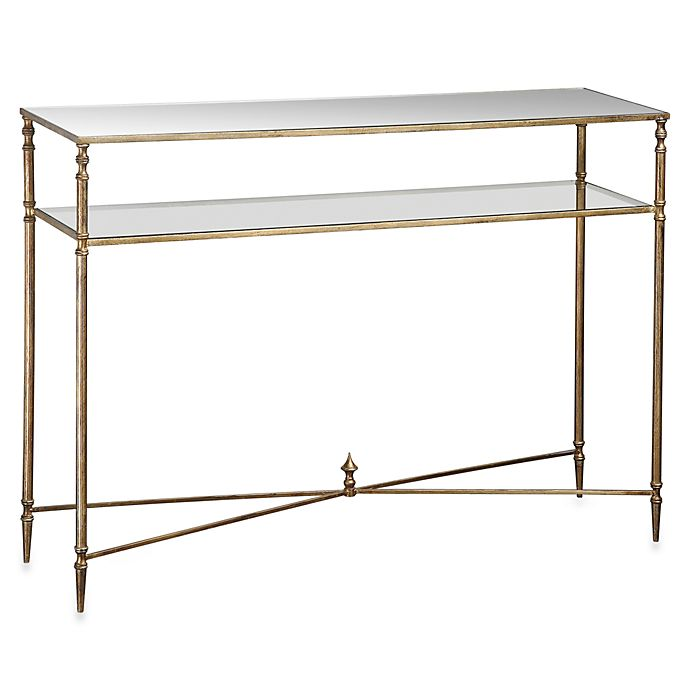 Alternate image 1 for Uttermost Henzler Metal Mirrored Glass Console Table