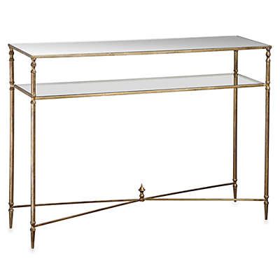 Uttermost Henzler Metal Mirrored Glass Console Table