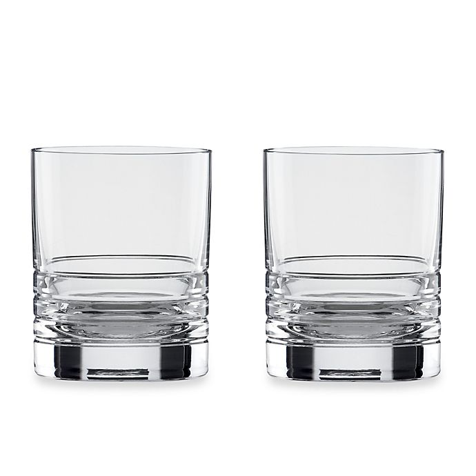 Alternate image 1 for kate spade new york Percival Place™ Crystal 16-Ounce Double Old-Fashioned (Set of 2)