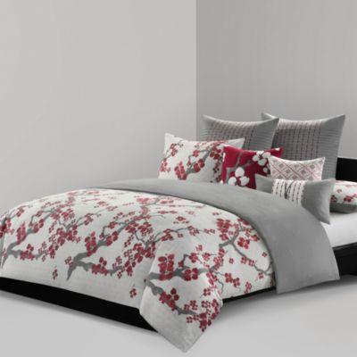 N Natori 174 Cherry Blossom Reversible Duvet Cover Bed Bath