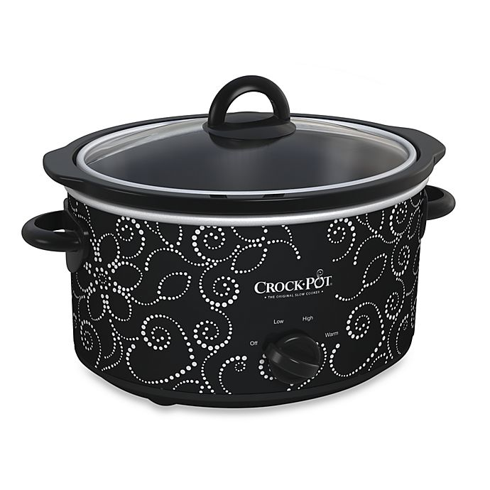 Alternate image 1 for Crock-Pot® 4-Quart Manual Slow Cooker in Pattern Finish