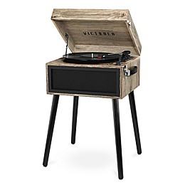 Victrola™ Bluetooth® Record Player Stand & 3-Speed Turntable in Oatmeal