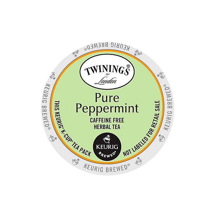 Alternate image 1 for Twinings of London® Pure Peppermint Herbal Tea Keurig® K-Cup® Pods 18-Count