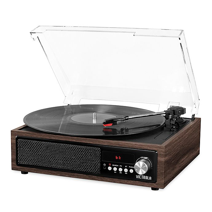 Alternate image 1 for Victrola™ 3-in-1 3 -Speed Bluetooth Record Player in Espresso