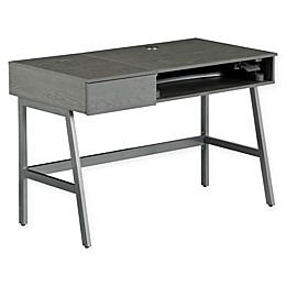 Techni Mobili Pneumatic Height-Adjustable Standing Desk in Grey