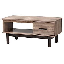 Baxton Studio Cathy Coffee Table in Oak/Black