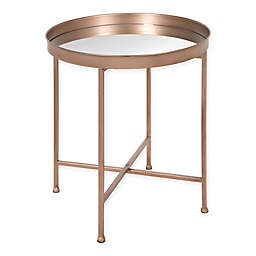 Kate and Laurel Celia Accent Table in Rose Gold