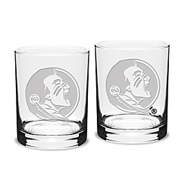 Florida State University 14 oz. Traditional Double Old Fashion Glasses (Set of 2)