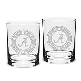 University of Alabama 14 oz. Traditional Double Old Fashion Glasses (Set of 2)