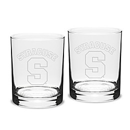 Syracuse University 14 oz. Traditional Double Old Fashion Glasses (Set of 2)