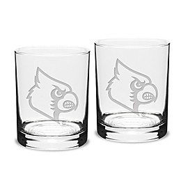 University of Louisville 14 oz. Traditional Double Old Fashion Glasses (Set of 2)