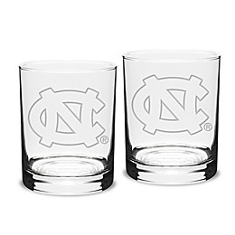 University of North Carolina 14 oz. Traditional Double Old Fashion Glasses (Set of 2)