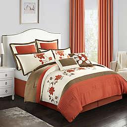 Nanshing Mackenzie Queen Comforter Set in Terracotta