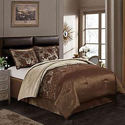 Nanshing Evan Queen Comforter Set in Brown