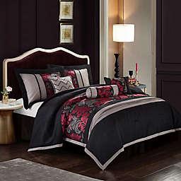 Nanshing Lincoln 7-Piece Comforter Set in Red