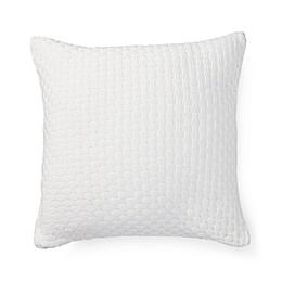 Lauren Ralph Lauren Spencer Lattice Knit Square Throw Pillow in White