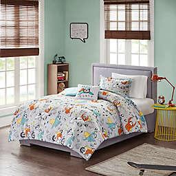 Mi Zone Kids Raff Sloth Comforter Set in Grey