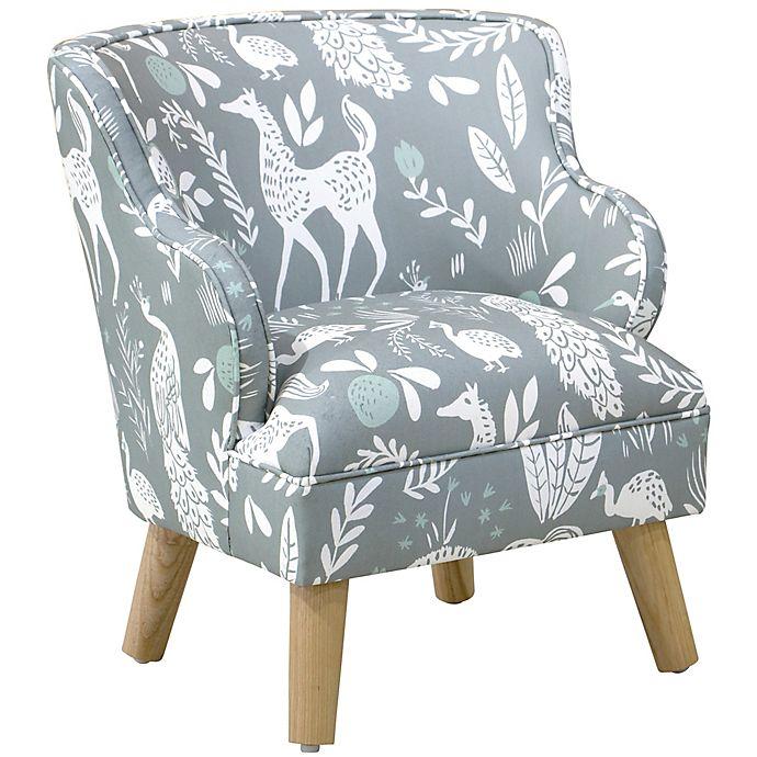 Miraculous Skyline Furniture Wesley Kids Arm Chair In Grey Bed Bath Machost Co Dining Chair Design Ideas Machostcouk