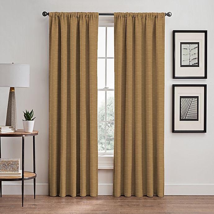 Alternate image 1 for Basel Rod Pocket/Back Tab Room Darkening Window Curtain Panel