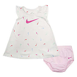 Nike® 2-Piece Swoosh Dress and Panty Set in White