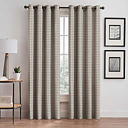 Diamond 84-Inch Grommet Window Curtain Panel in Taupe