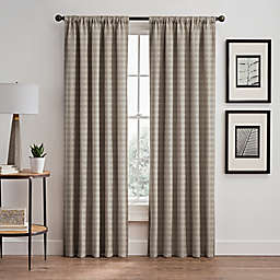 Diamond 63-Inch Rod Pocket/Back Tab Window Curtain Panel in Taupe