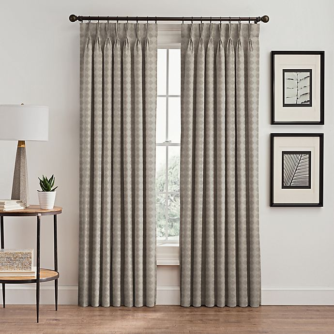 Alternate image 1 for Diamond Pinch Pleat Window Curtain Panel