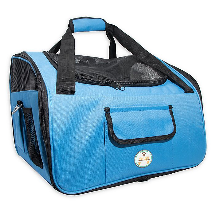 Alternate image 1 for Ultra-Lock Collapsible Wire Folding Pet Car Seat in Sky Blue