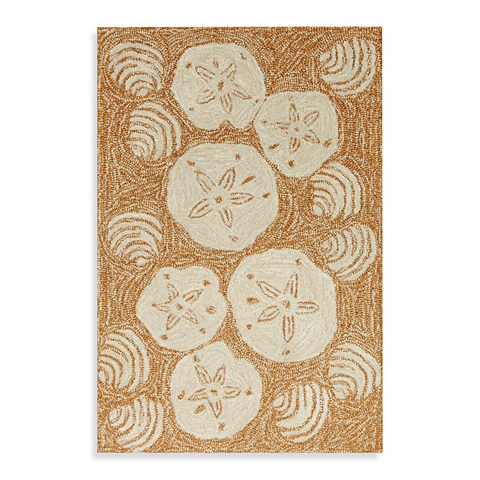 Alternate image 1 for Trans-Ocean Shell Toss 3-Foot 6-Inch x 5-Foot 6-Inch Indoor/Outdoor Rug in Natural