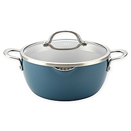 Ayesha Curry™ Porcelain Enamel Nonstick 5.5 qt. Covered Straining Casserole