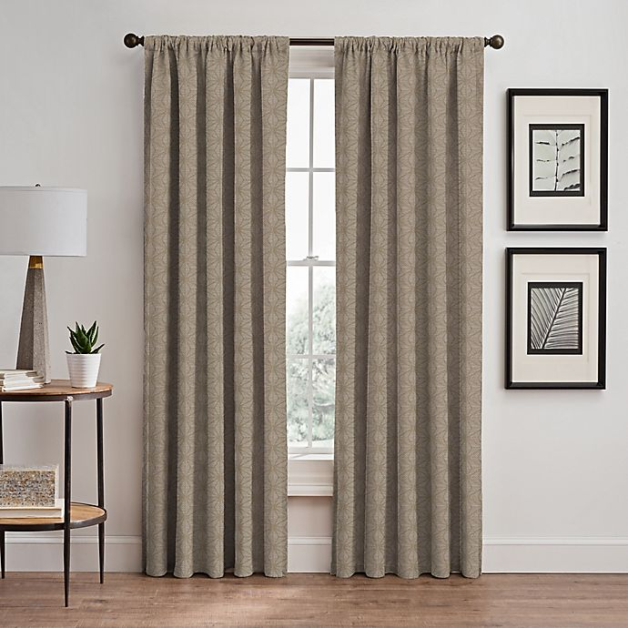Alternate image 1 for Cascade 84-Inch Rod Pocket/Back Tab Window Curtain Panel in Cafe